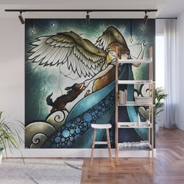 All Dogs DO Go to Heaven Wall Mural