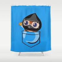 warcraft Shower Curtains featuring Ninja Pepe! by SlothgirlArt