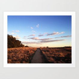 The road is narrow that leads to life… Art Print
