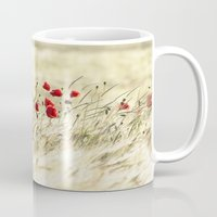 poem Mugs featuring A POPPY  POEM by Stephanie Koehl