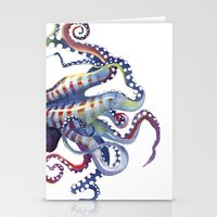 octopus Stationery Cards featuring Octopus by Sam Nagel