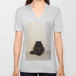 A Lone Cat  Unisex V-Neck