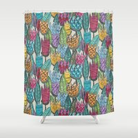 tulips Shower Curtains featuring tulips by Sharon Turner