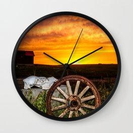 Wyoming Sunset Wall Clock