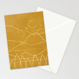 Minimalist Landscape Line Art II Stationery Cards