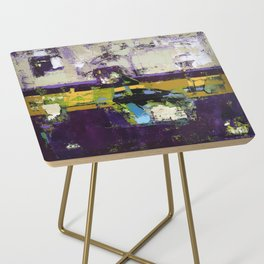 Controversy Prince Deep Purple Abstract Painting Modern Art Side Table