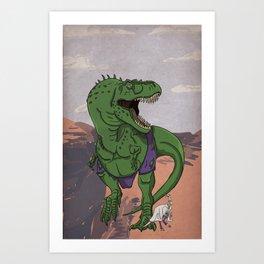 Hulkasaurus Rex - Superhero Dinosaurs Series Art Print