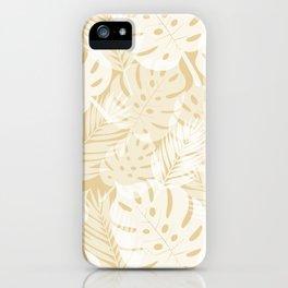 Tropical Shadows - Beige / White iPhone Case