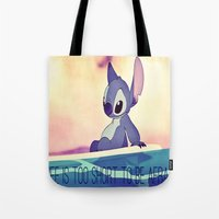 lilo and stitch Tote Bags featuring Stitch by Chiaris