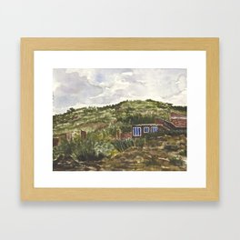 Blue Windows, Sivingani, Bolivia Framed Art Print