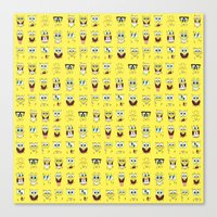 spongebob Canvas Prints featuring spongebob  , spongebob  games, spongebob  blanket, spongebob  duvet cover by ira gora