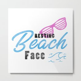 Funny Summer Sun Beach Holiday Vacation Drink Gift Metal Print