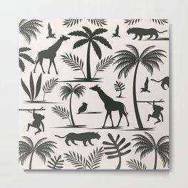 Jungle Safari Metal Print