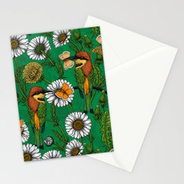 Bee eaters on a spring meadow    Stationery Cards