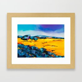 Provencal countryside Framed Art Print