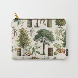 Adolphe Millot - Arbres B - French vintage botanical poster Carry-All Pouch