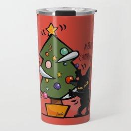Cat Christmas Travel Mug
