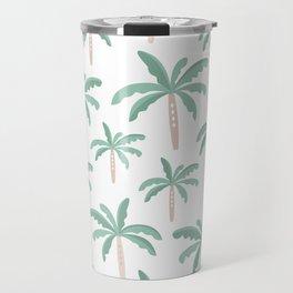 Lush tropical palm trees hawaiian beach pattern Travel Mug