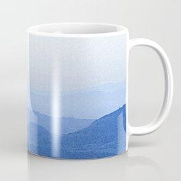Dreamy Mountain Range | Serene Calm Lavender Blue Ombre Daydream Sunset over the California Hills Coffee Mug