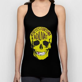 Fortune Favours The Brave. Unisex Tank Top