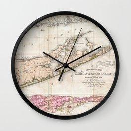 Long and Staten Island Map Wall Clock