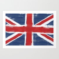 uk Art Prints featuring UK by Justified