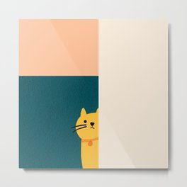 Little_Cat_Cute_Minimalism Metal Print