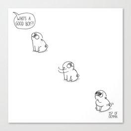 Good boy - Mochi the pug Canvas Print