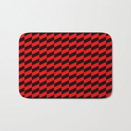 Race Car Red and Black Bath Mat