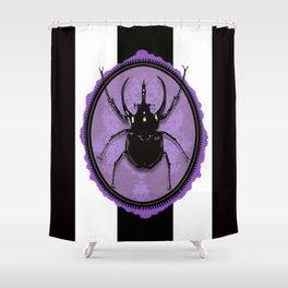 Juicy Beetle PURPLE Shower Curtain