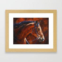 Hanoverian Warmblood Sport Horse Framed Art Print