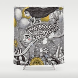 Roller Coaster Ride Shower Curtain