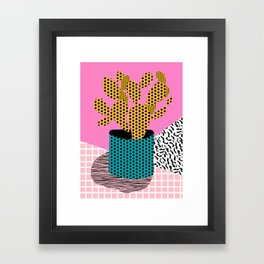 Ace - 80's throwback retro vintage hipster texture vinyl record 1980's 90's cool memphis bright fun Framed Art Print
