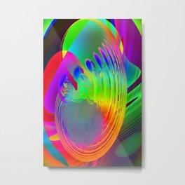 Embryo of coloured fantasy ... Metal Print