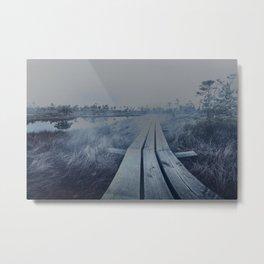 Foggy bog Metal Print