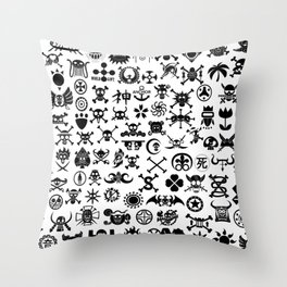One Piece Jolly Roger Throw Pillow