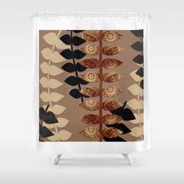 Patterned Vines Shower Curtain