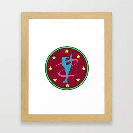 Lovely Gift Ice Skating Tshirt Design Born to ice skate Framed Art Print