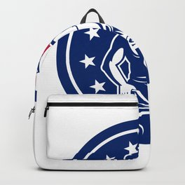 American Farrier USA Flag Icon Backpack