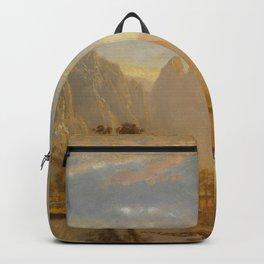 VALLEY OF THE YOSEMITE - ALBERT BIERSTADT Backpack