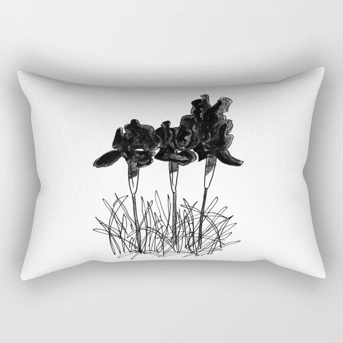 Dark Iris Rectangular Pillow
