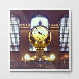 Grand Central Clock Metal Print