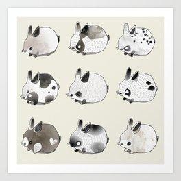 Little Bunnies Art Print