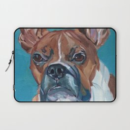 Walker the Boxer Dog Portrait Laptop Sleeve