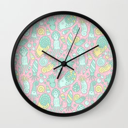 Cute Cephalopods Wall Clock