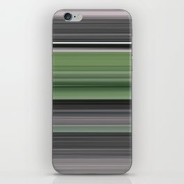 Olive green and grey iPhone Skin