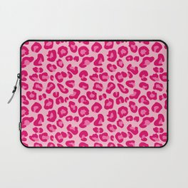 Leopard Print in Pastel Pink, Hot Pink and Fuchsia Laptop Sleeve