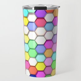 Colored Hexa Pattern Travel Mug