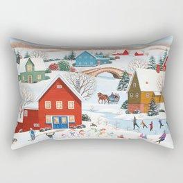 Snow Family Rectangular Pillow