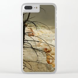 The Beauty Of A Travertine Terrace Clear iPhone Case